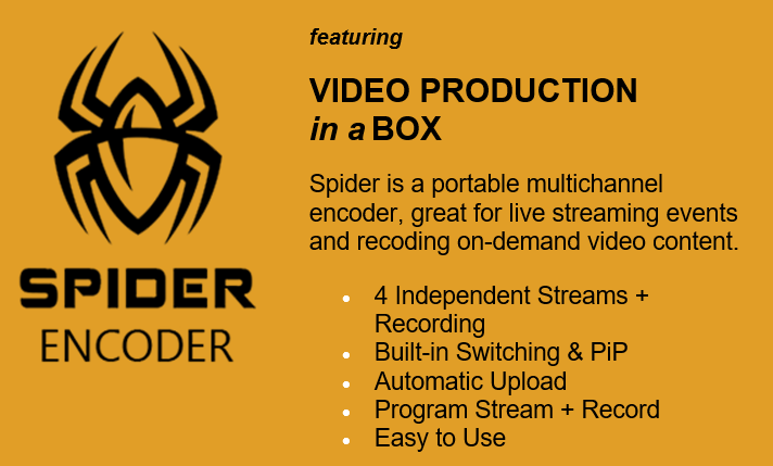 Spider Multichannel Video Encoder & Switcher from DiscoverVideo