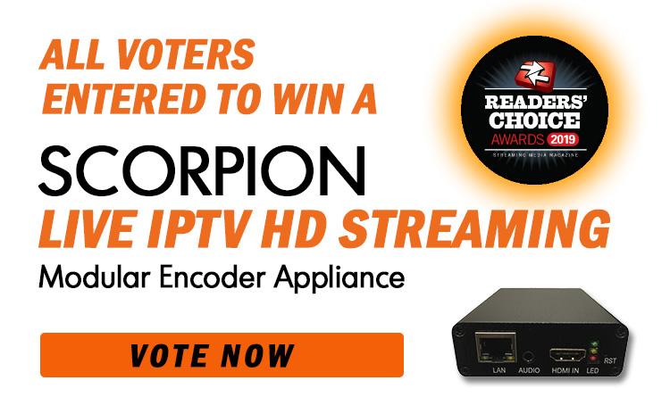 Vote to Enter to Win Scorpion Live IPTV Video Encoder
