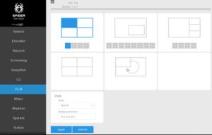 Spider Video Encoder Switcher Display Template
