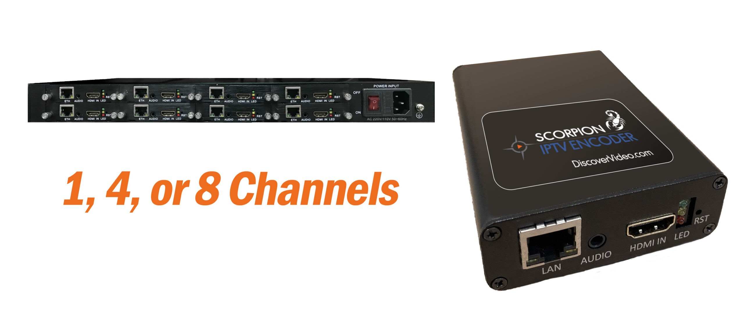 Scorpion Live IPTV HD Streaming Encoder Appliances from DiscoverVideo