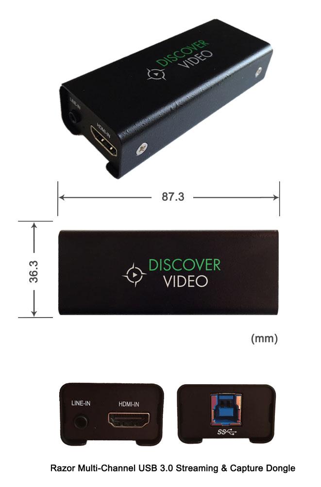 Captiva Razor Media USB Connector Dimensions