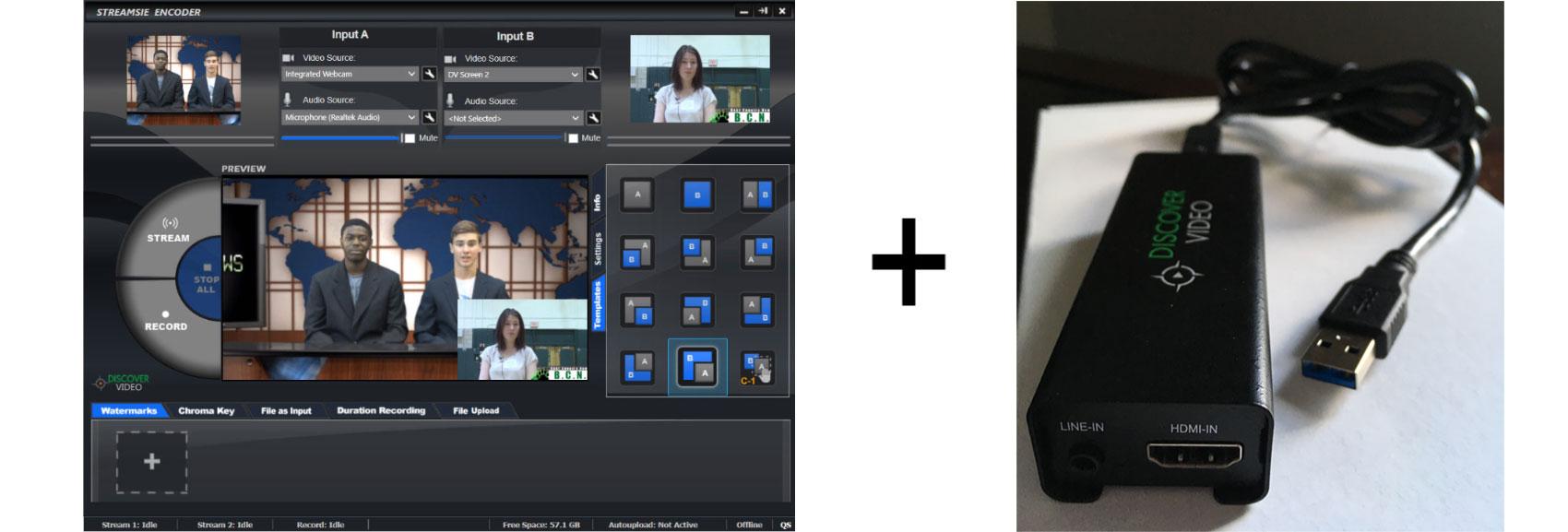 Streamsie Software Video Encoder & Razor USB Converter Video School News Kit