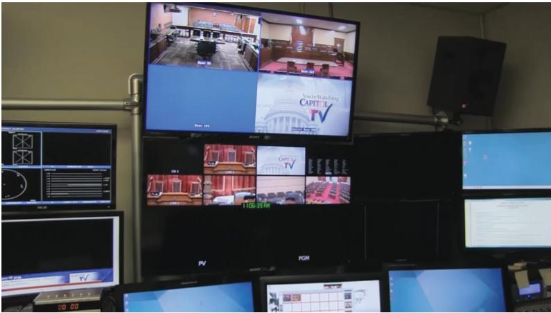 RI Capital TV Team Encodes Live Legislative Stream